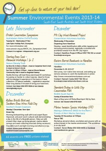 Summer Environmental Events Calendar page 1