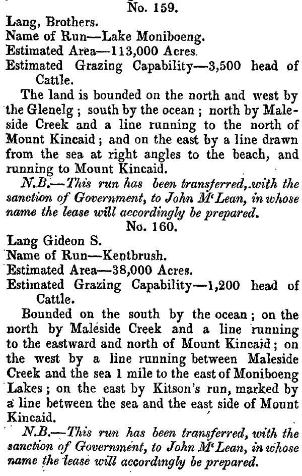 1849-NSW-Government-Gazette-transfer-Lake-Moniboeng