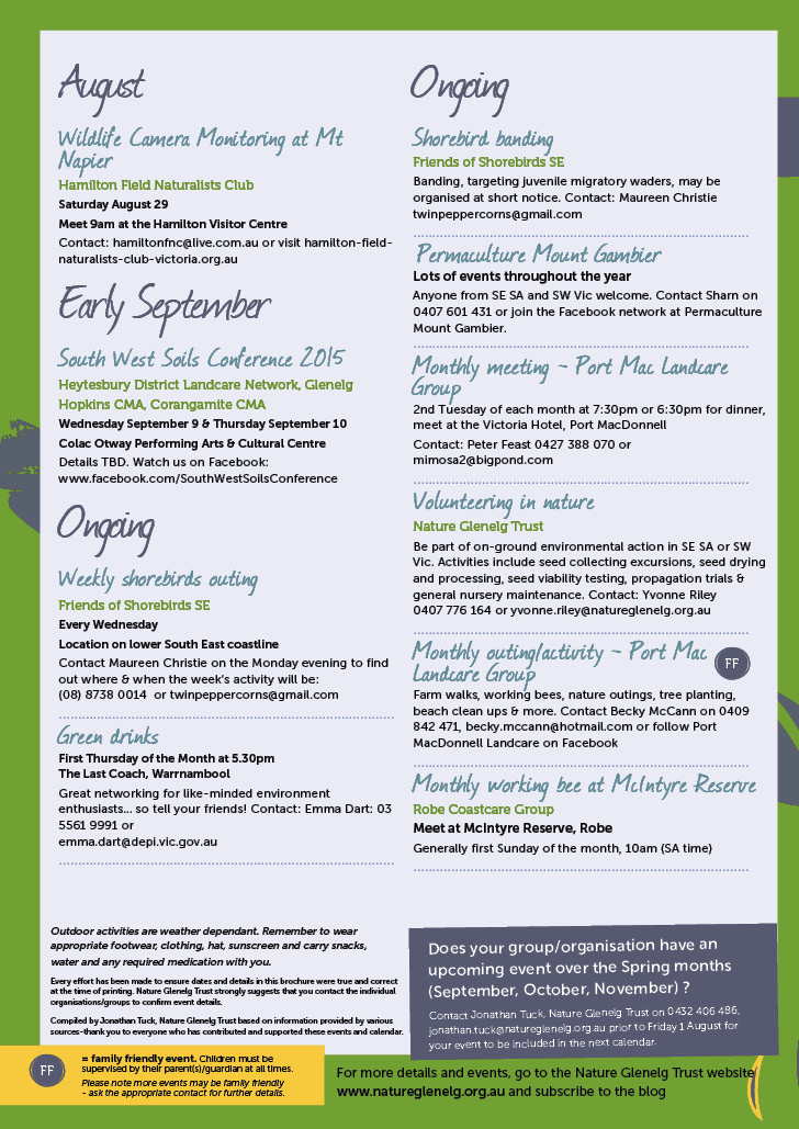 Winter Environmental Events Calendar Page 4