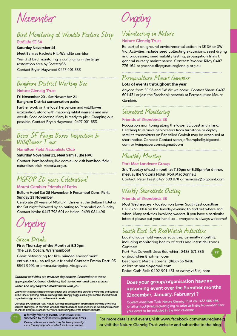 Spring Environmental Events Calendar Page 4