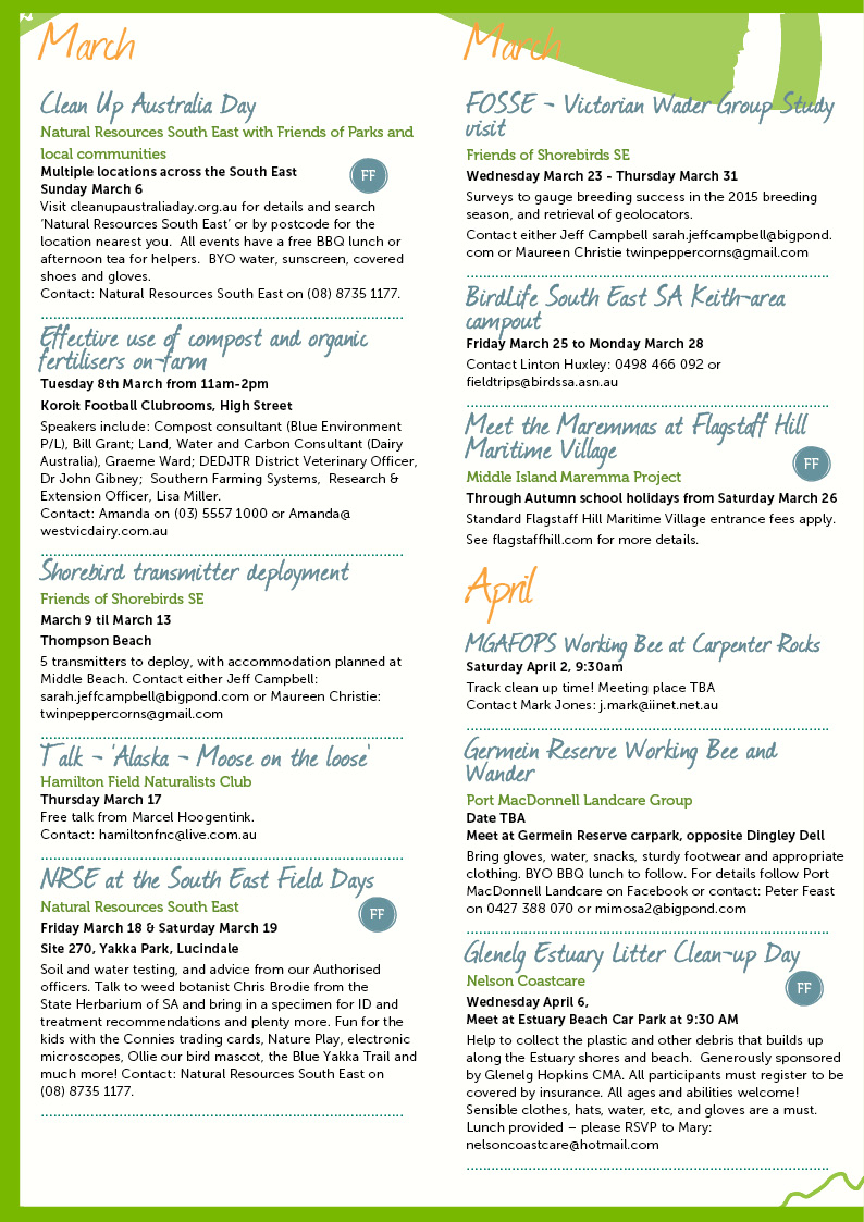 Autumn Environmental Events Calendar Page 2
