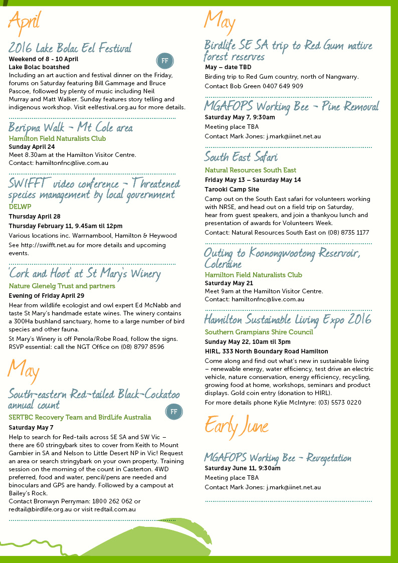 Autumn Environmental Events Calendar Page 3