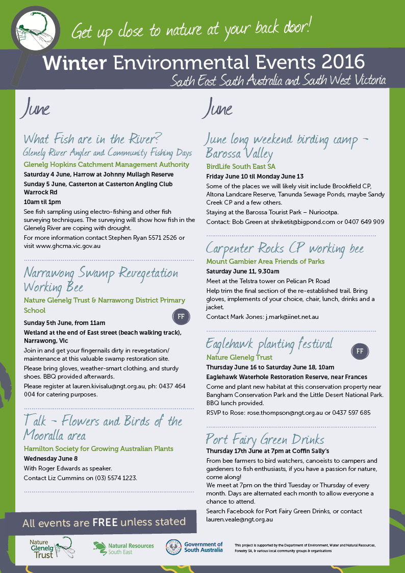 Winter Environmental Events Calendar Page 1