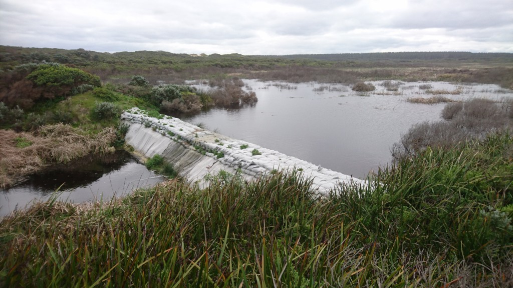 The Long Swamp Restoration Trial Structure at Nobles Rocks - 10th September 2016