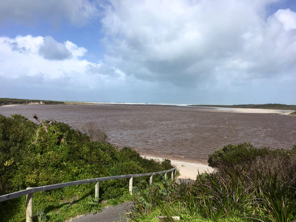 The Glenelg River estuary last week, following significant rainfall.