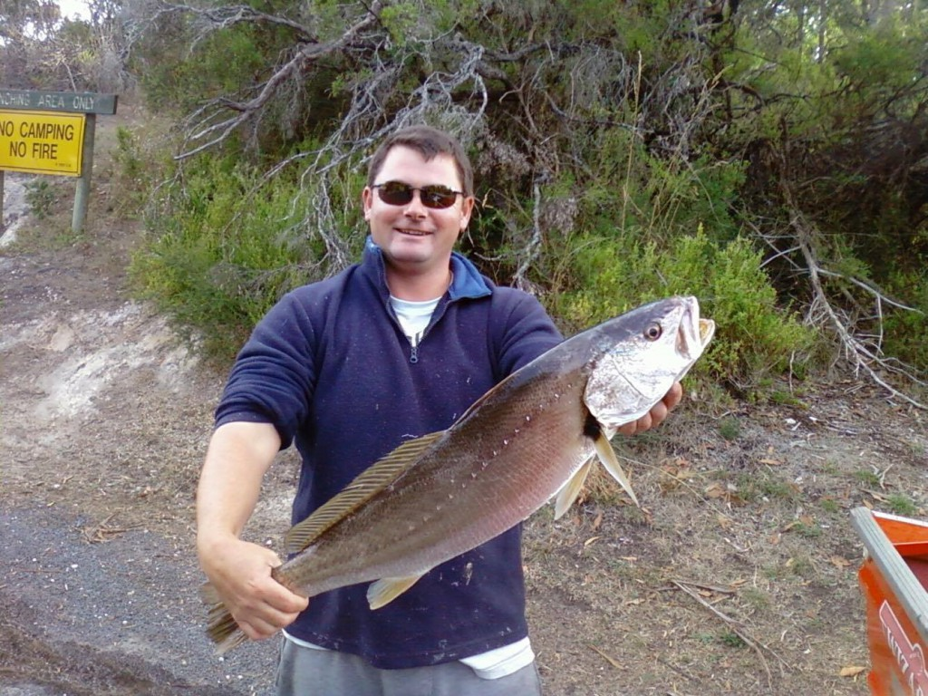 Local angler Shane Lowry, with a mulloway caught last year which he donated to the citizen science program.