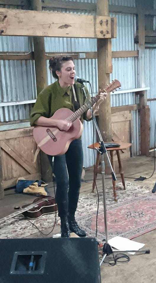 Louise Adams performs for Mt Burr Swamp supporters