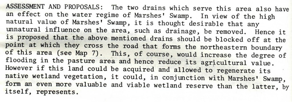 About Mt Burr Swamp and adjacent areas - From Page 14 of Warren Jones (1978) NCSSA Report on Wetlands in the South East
