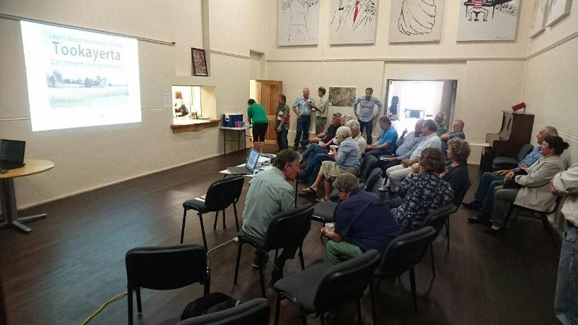 A excellent cross-section of the community came along to the Tookayerta Catchment session on Sunday the 4th of December