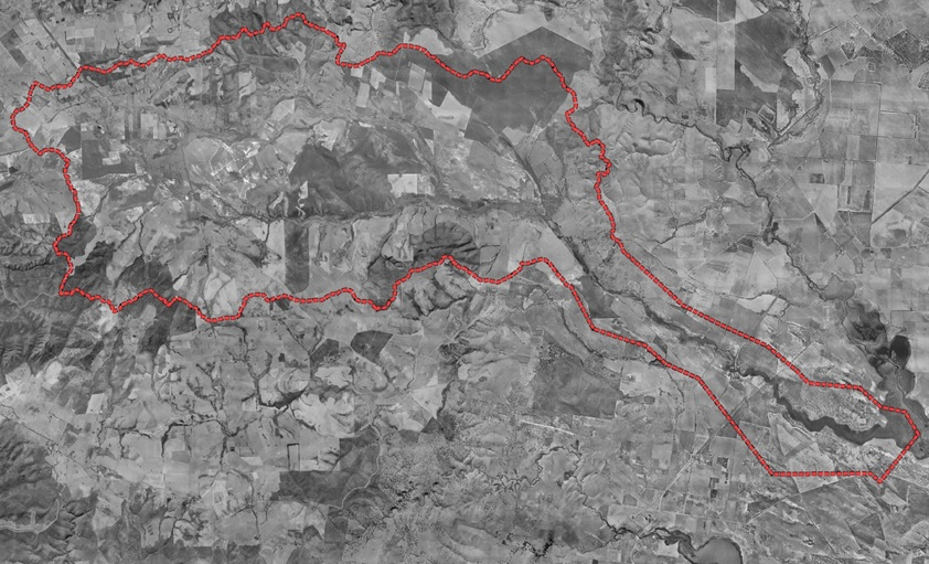 First aerial view of the Tookayerta Catchment in the 1940s