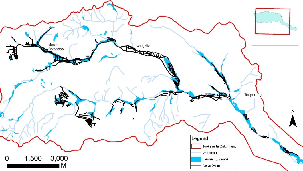 The project has led to the creation of a data layer that shows the location of artificial drains across the Tookayerta Catchment for the first time.