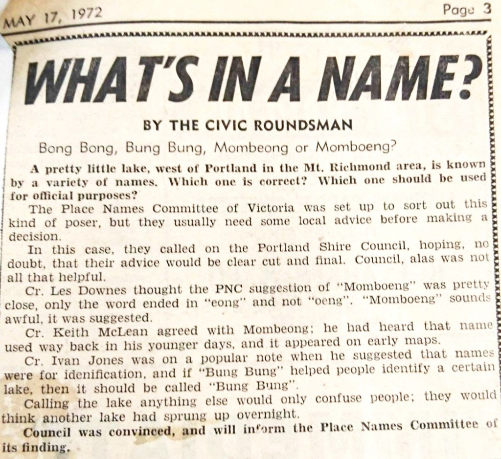 Article from Page 3 of the Portland Observer, 17th May, 1972.