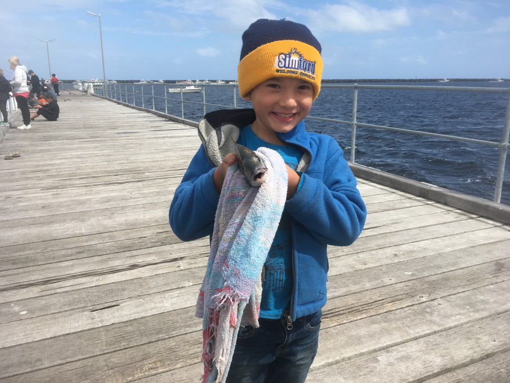 This angler was very happy to reel in a Black Bream during the Port MacDonnell clinic.