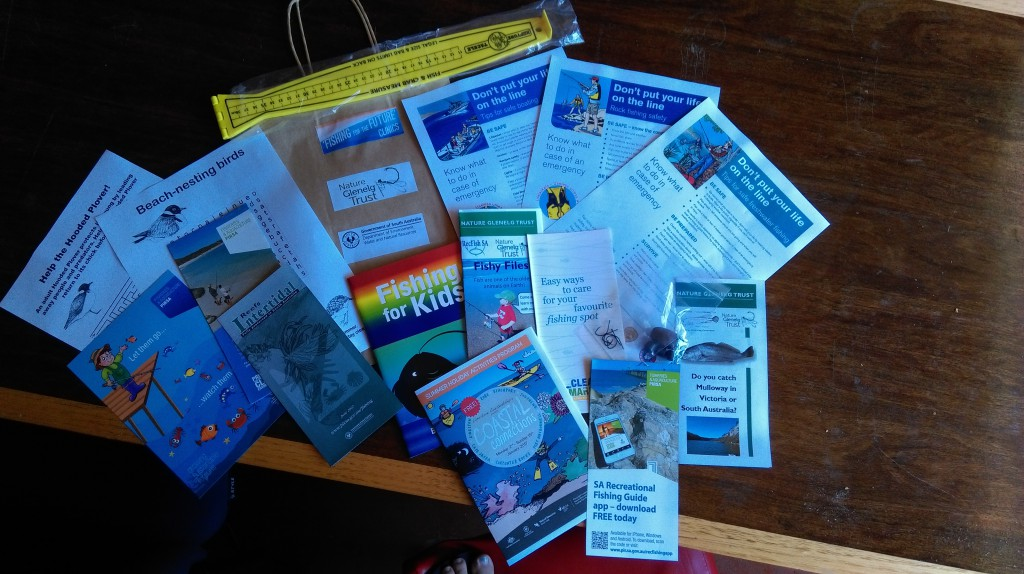 Each kid took home one of these Sustainable Fishing Packs, full of lots of great sustainable fishing material.