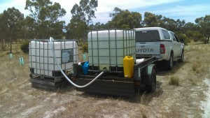 Filling tanks to water plants